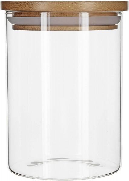 Aufbewahrungsglas mit Bambusdeckel - 800 ml