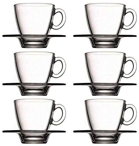 Gläser Set mit Unterteller 12-teilig