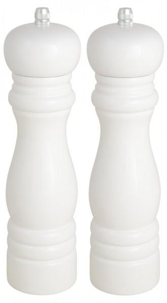 Salzmühle - Pfeffermühle 2er Set - weiß