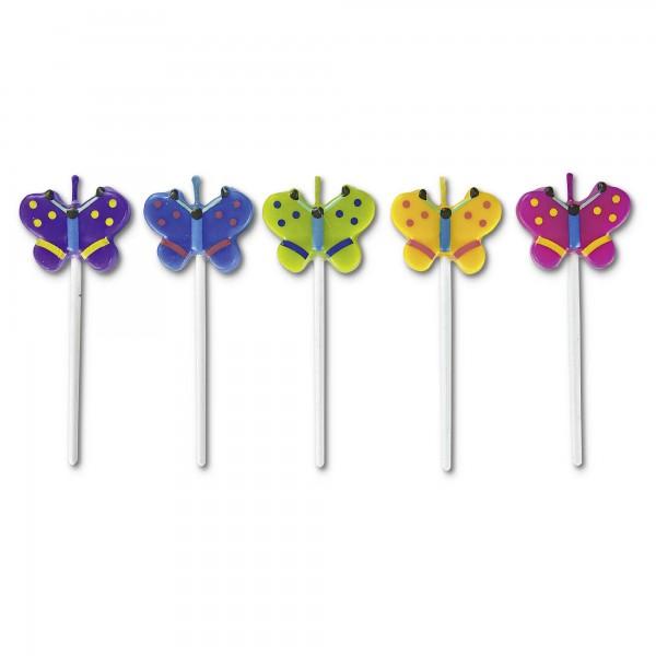 Kerzen - Schmetterlinge - Set, 5-teilig
