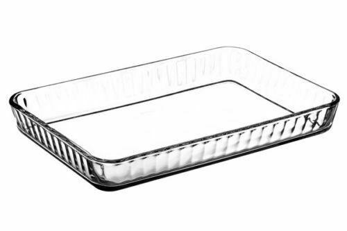 Glas Auflaufform / Backform eckig lang aus Glas