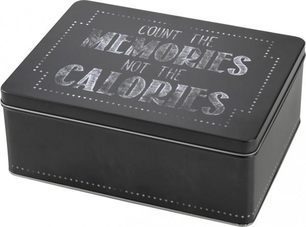 Cupcake Box mit Transporteinsatz / Keksdose Schwarz