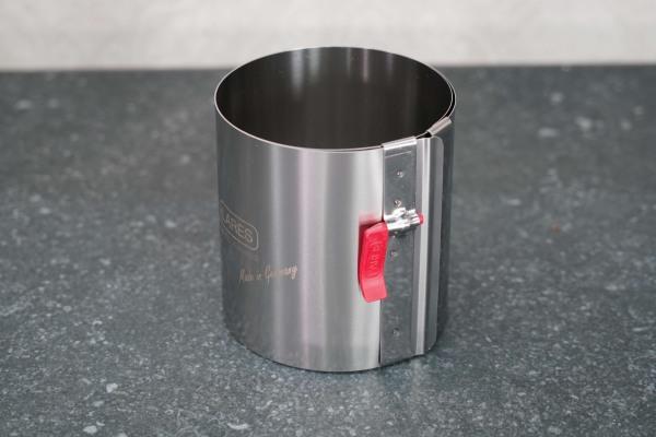 Tortenring MINI mit Klemmhebel Ø 10-18 cm