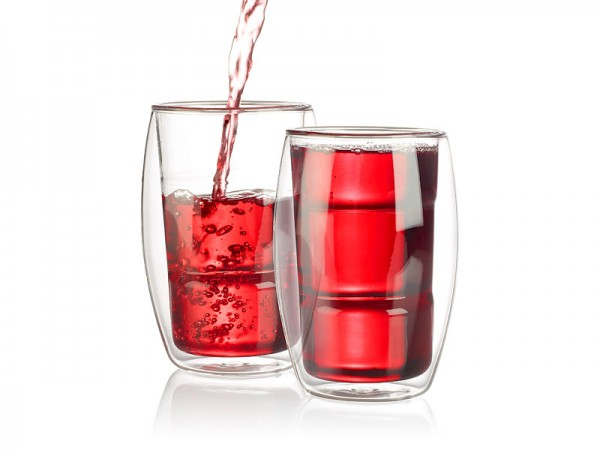 Doppelwandige Cocktail-Gläser 2er-Set