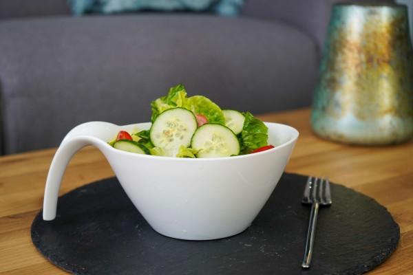 Porzellanschale - Salat/Servierschälchen in Löffelform