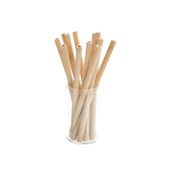 Strohhalm 100% Bambus - 12er-Set
