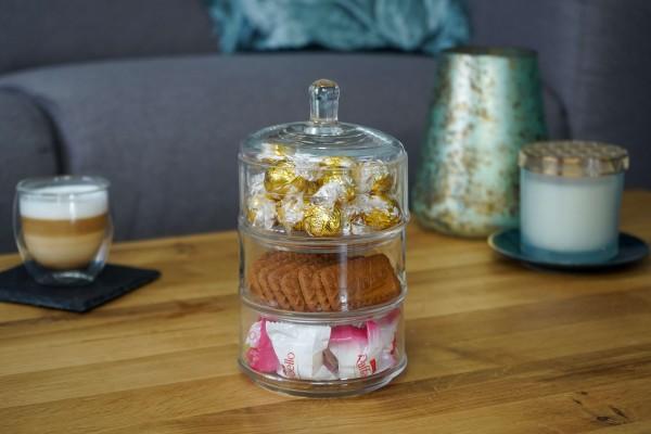 Glas Etagere M - 3 stöckige Bonboniere