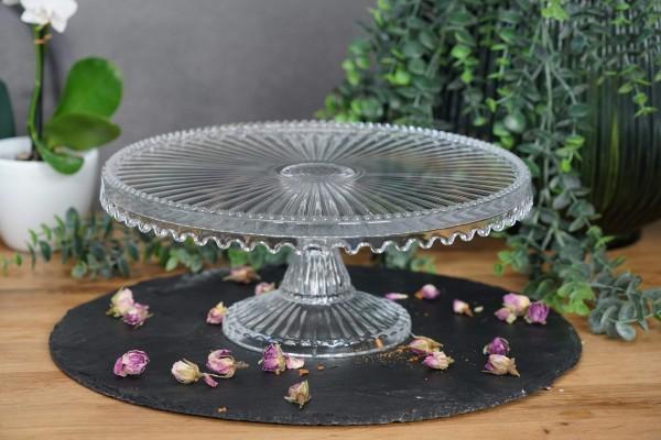 Tortenplatte in Kristalloptik - rund