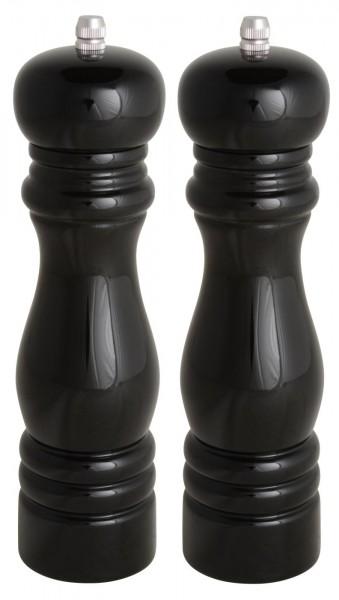 Salzmühle - Pfeffermühle 2er Set - schwarz