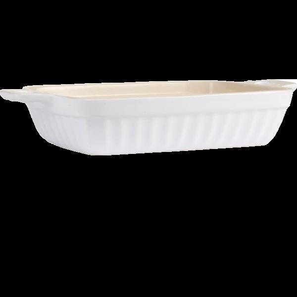 Auflaufform Porzellan Kasten - Weiß
