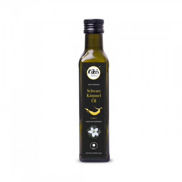 NEU: Kikis Premium Schwarzkümmelöl 250ml gefiltert BIO